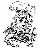 Gibbering Mouther Amoeba Drawing Manual Monster Pile Mouths Eyes Ii Dragons Dungeons Nostalgia Ad Tsr Getdrawings Realms Far Cthulhu Rpg sketch template