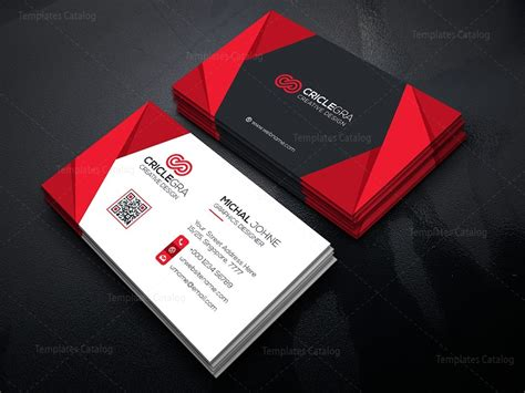 cool card template visiting card template with style 000465