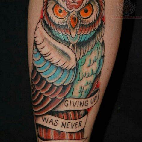 giving    owl tattoo