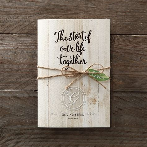 Naturally Rustic Invitation  Romantic Outdoor Weddings
