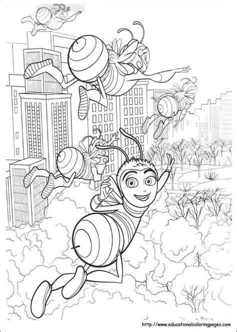 bee  coloring pages educational fun kids coloring