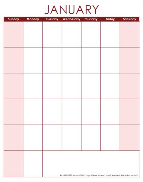 Blank One Month Calendar Template by Blank Calendar Template Free Printable Blank Calendars