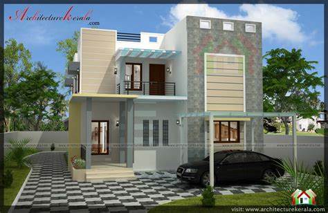 double storied  bedroom house plan  elevation