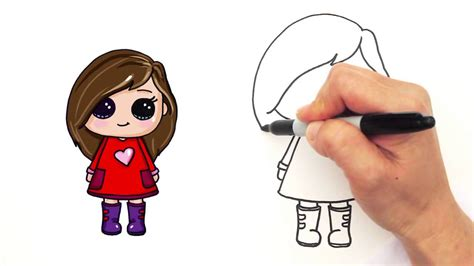 Cute Easy Drawings For Girls How To Draw A Girl Easy And