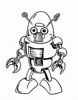 Robot Coloring Pages Print Printable sketch template