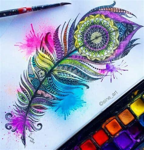 mandala feather art pinterest tatouage tatouage