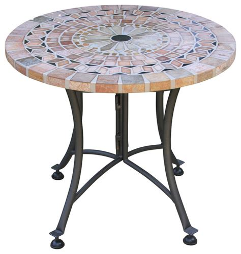 mosaic outdoor side table sanstone mosaic accent table with metal base