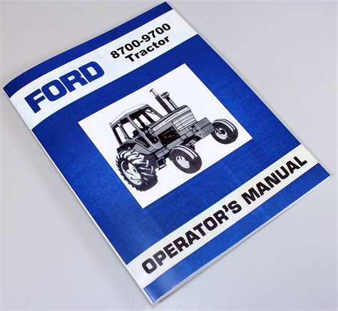ford   tractor owners operators manual book