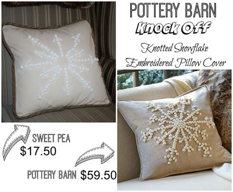 Snowflake Beaded Applique Pillow Cover Pottery Barn by Knock Pottery Barn Embroidered Snowflake Pillow