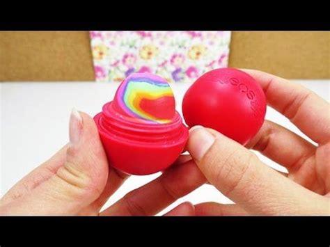 lipgloss selber machen kinder eos lipbalm diy rainbow radiergummi radierer mit regenbogen farben selber machen