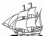 Ship Clipper Coloring Template sketch template