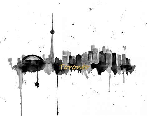 toronto skyline canvas toronto skyline painting