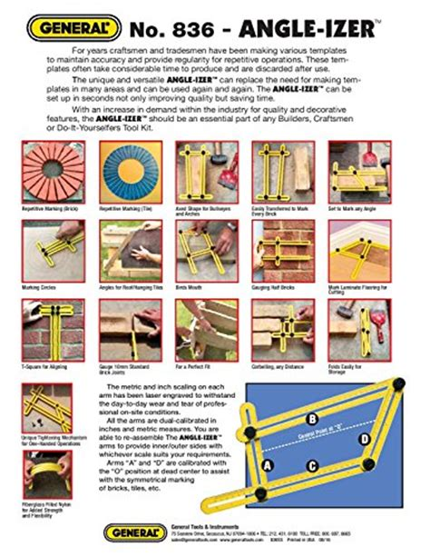 ultimate 836 angle izer diy template tool general tools 836 angle izer template tool new ebay