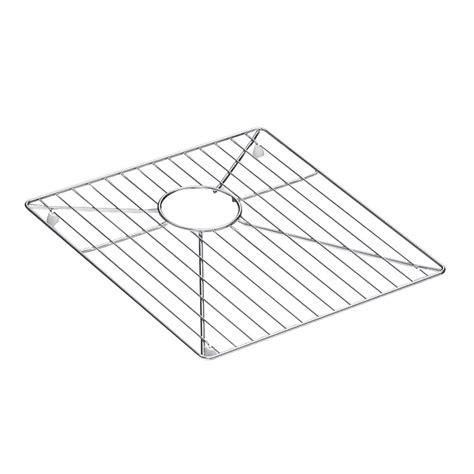 stainless steel sink rack kohler vault stainless steel bottom sink basin rack k 6475