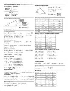 Trigonometry Review Worksheet Normal Distribution Exles Images