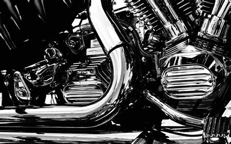 Chrom-motor Motorräder Schwarz Weiß Monochromen