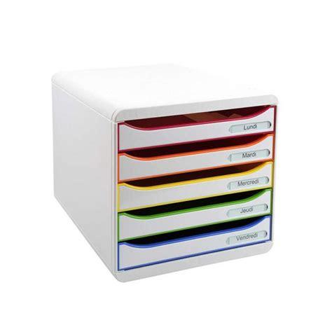 rangement de bureau  tiroirs blanc