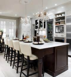 Leather Bar Stools With Nailhead Trim by Candice Olson Design Contemporary Kitchen Toronto