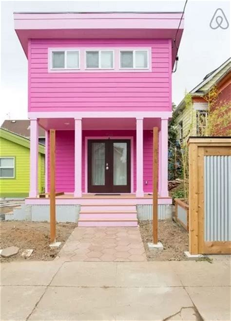 sq ft pink tiny house  portland