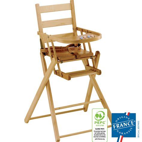 chaise haute pliante bébé chaise haute bébé pliante dossier lattes galbees vernis de combelle chez naturabébé