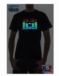 Led Light Shirt El Panel Tshirts Sound Activated Light Up Tshirt In