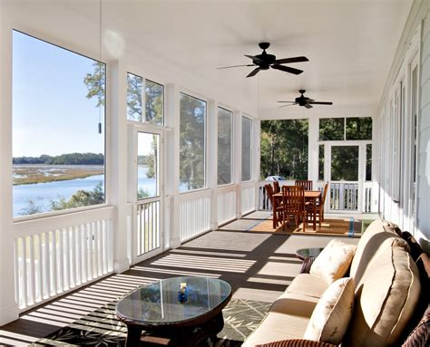 ceiling fan for screened porch screen in porches porch traditional with area rug ceiling