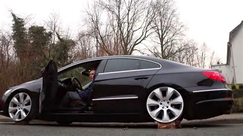 volkswagen passat black rims vw passat cc on airlift testing new wheels mfs media