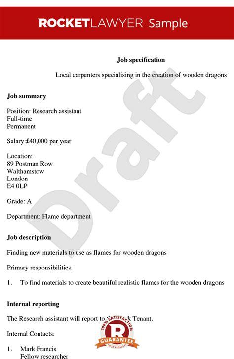 Creating Descriptions Template by Create Print Free Description Template Spec