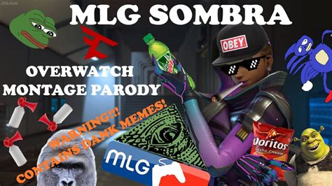 Mlg Dank Memes - mlg sombra overwatch montage parody video contains dank memes youtube