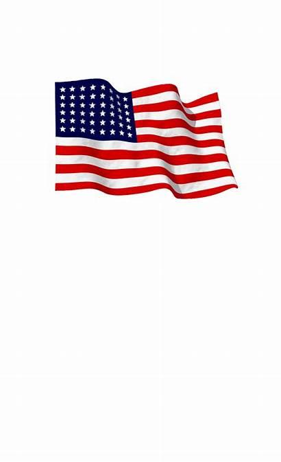 Flag American Waving Transparent Sticker Wind Metal