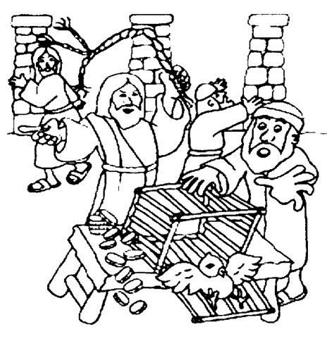 Jesus Clears The Temple Coloring Page Home