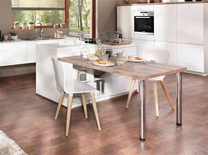 30 idees a piquer pour une jolie cuisine elle decoration With idee deco cuisine avec table de salle a manger ronde en bois