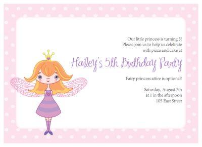 printable fairy princess party invitations kit