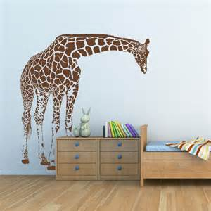 how to decorate your livingroom giraffe big wall decal by artollo