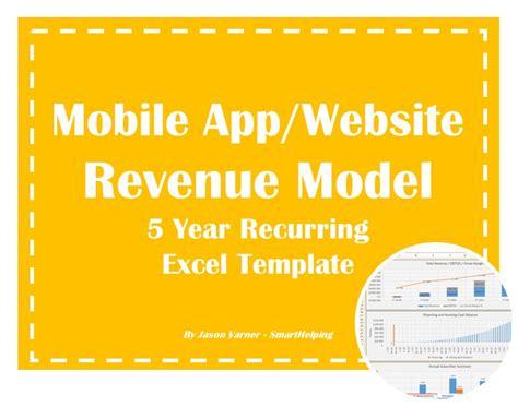 mobile app website  year recurring revenue excel