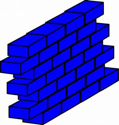 Wall Clipart Clip Brick Vector Block Building