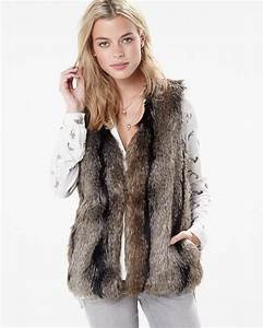Veste Sans Manche Femme Fourrure : veste sans manches en immitation de fourrure rw co ~ Melissatoandfro.com Idées de Décoration