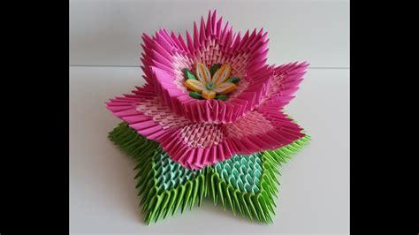 fleur de lotus lotus flower origami 3d