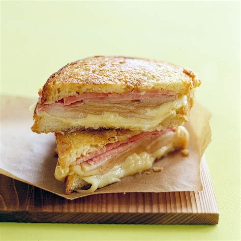 Kitchen And Bath Ideas Magazine - grilled ham and cheese with pears