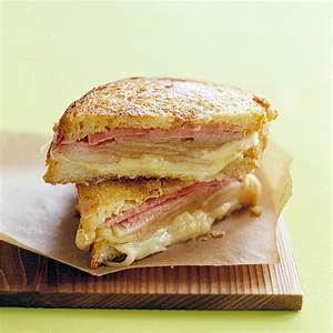 Grilled Ham and Cheese with Pears