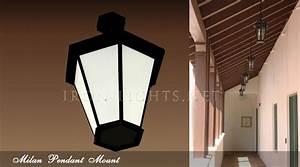 Outdoor pendant iron lights milan pendants