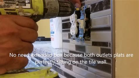 kitchen backsplash electrical outlets how to extend electrical outlet tile on a kitchen 5032