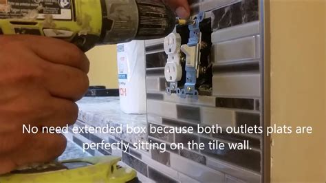 How To Extend Electrical Outlet Over Tile   On A Kitchen