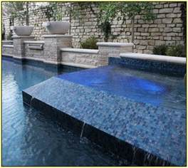 glass tile pool waterline home design ideas