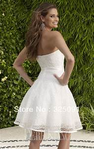 vintage strapless short wedding dress sang maestro With short strapless wedding dresses