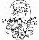 Movie Clipart Boy Coloring Cartoon Movies Snacks Outline Watching Snack Clip Pages Drawing Leishman Vector Ron Clipartpanda Terms Weclipart Advertisement sketch template