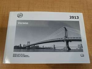 13 2013 Buick Verano Owners Manual Oem Guide Books Set