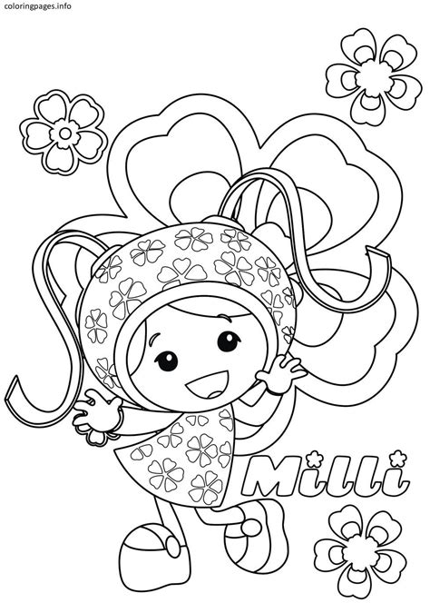 Coloring Umizoomi by Team Umizoomi Milli Coloring Pages Diy And Crafts