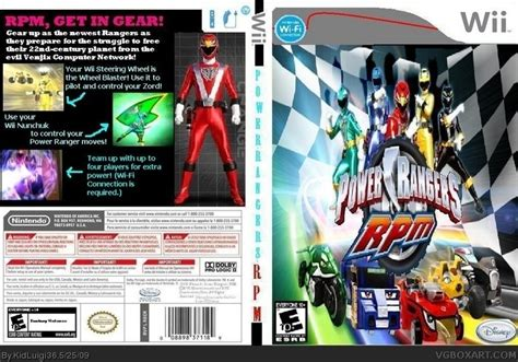 power rangers rpm wii box cover by kidluigi36