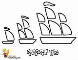 Pirate Coloring Ship Pages Ships Sailing Yescoloring Seas Pirates Boys sketch template